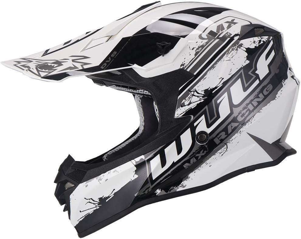 Wulfsport Off Road Pro Motocross Helmet Adult Motorcycle Motorbike Helmets Yellow XS 53-54cm