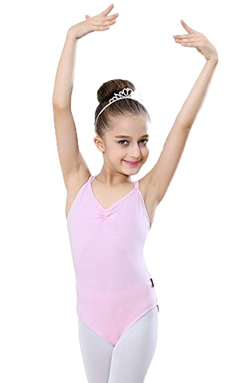 e465b98bc Amazon.com  Ballet Kids Dancing Pinch-Front Camisole Leotard with ...