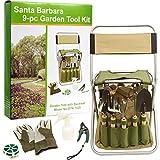 Gardening Tools Santa Barbara 9-Piece Garden Tool Set, Olive Green
