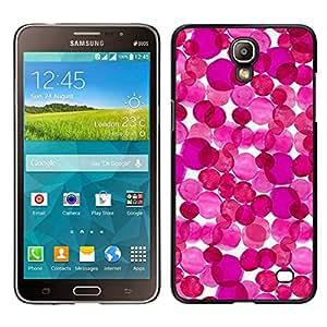 EJOY---Cubierta de la caja de protección para la piel dura ** Samsung Galaxy Mega 2 ** --Arte púrpura abstracto blanco floral