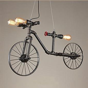 Pipa de agua Bicicleta Lámpara chandelier,Decoración Led Creativo ...