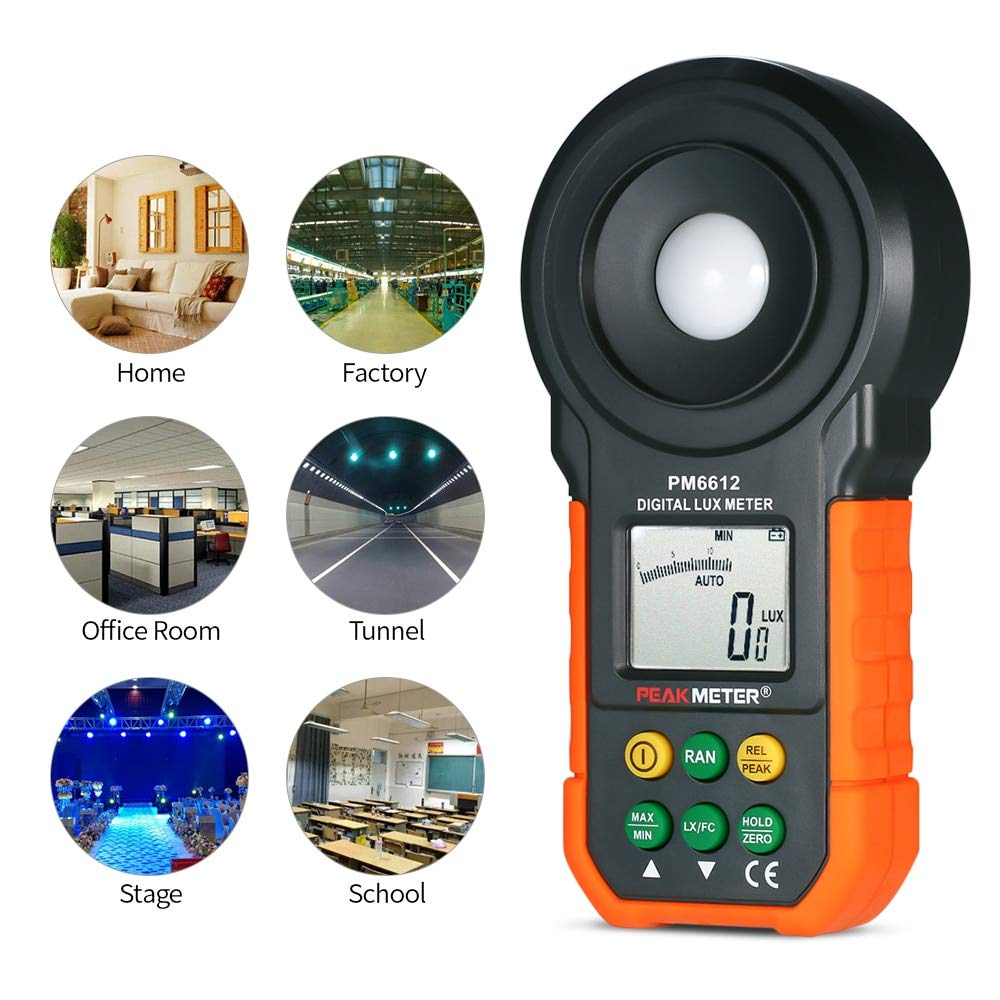 PM6612 High Accuracy Digital Lux Meter Handheld Illuminometer Luminometer Photometer Luxmeter Light Meter (PM6612L) by Expressus