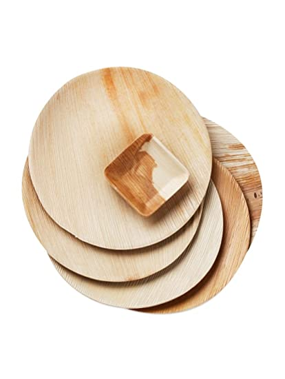 Wooden Palm Party 10\u0026quot; Round Plates (Set of 50) Very Stylish  sc 1 st  Amazon.in & Buy Wooden Palm Party 10\