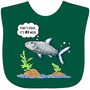 Inktastic That's Right, It's My Week- Cute Bala Shark Baby Bib Green 29ff3