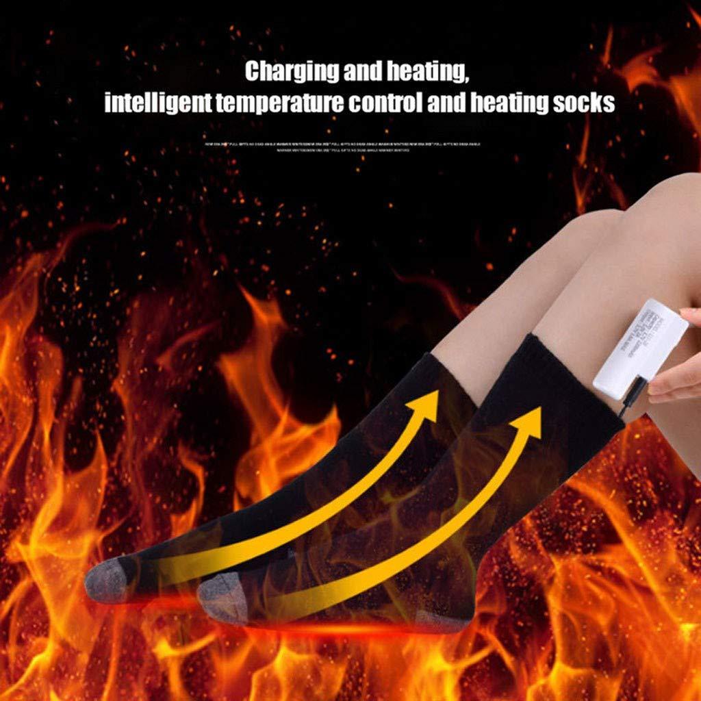 Alecony Beheizbare Socken mit 3 Dateien Einstellbarer Temperatur,Sohlenw/ärmer,Fu/ßw/ärmer,Fu/ßheizung,Wiederaufladbar Winter Heizsocken f/ür Damen Herren,Baumwolle Beheizung Erw/ärmbare Socken BK
