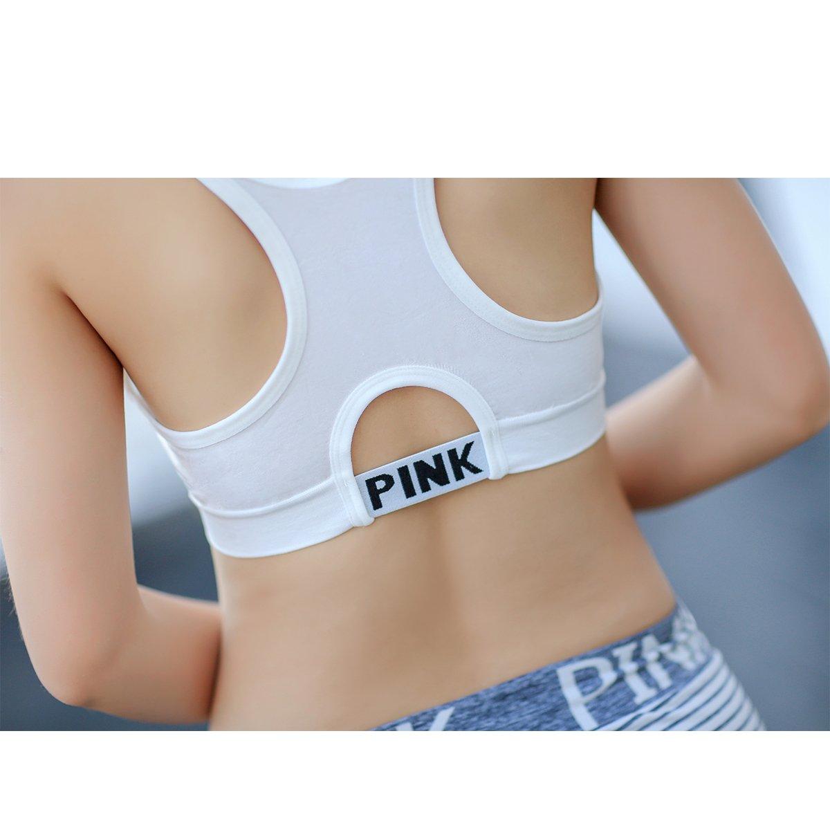 LuFeng Womens Racerback Sports Bras Fitness Support Workout Running Yoga Bras LF60-1