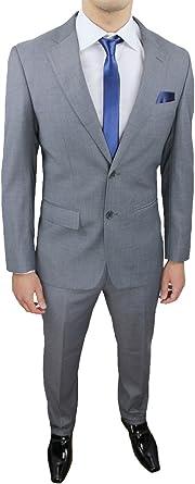 Vestiti Eleganti Uomo Grigio.Elegante Abito Uomo Sartoriale Grigio Completo Vestito Slim Fit Con