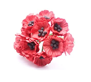 Amazon Changthai Design Red 50 Mulberry Paper Poppy Flower