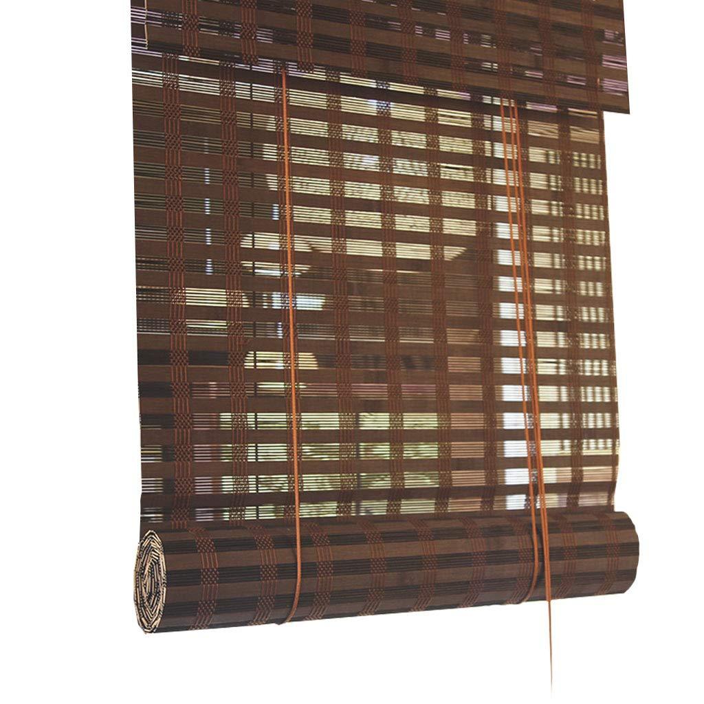 竹断熱材カーテンロールアップブラインド遮光遮光無臭環境保護ローマンシェード、ホームティールームに適して 90x160cm  B07QG6TM7Y
