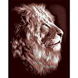 Reeves Lion Scraperfoil Artwork, Gold