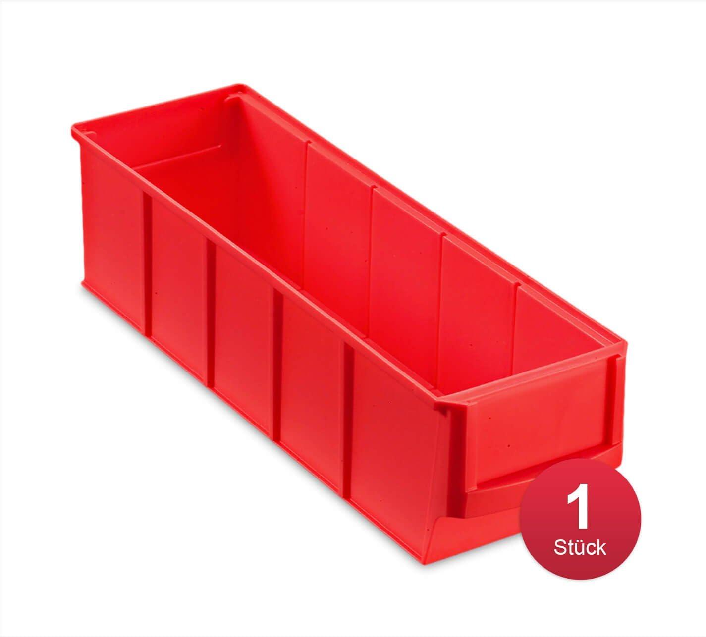 aidB Industriebox 300x183x81 mm robuste Aufbewahrungsbox aus Kunststoff breit ideal f/ür die Industrie blau stapelbare Lagerbox