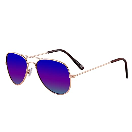 d208c751526c Children's Size Aviator Style Sunglasses for Kids (Boys and Girls) (3-12