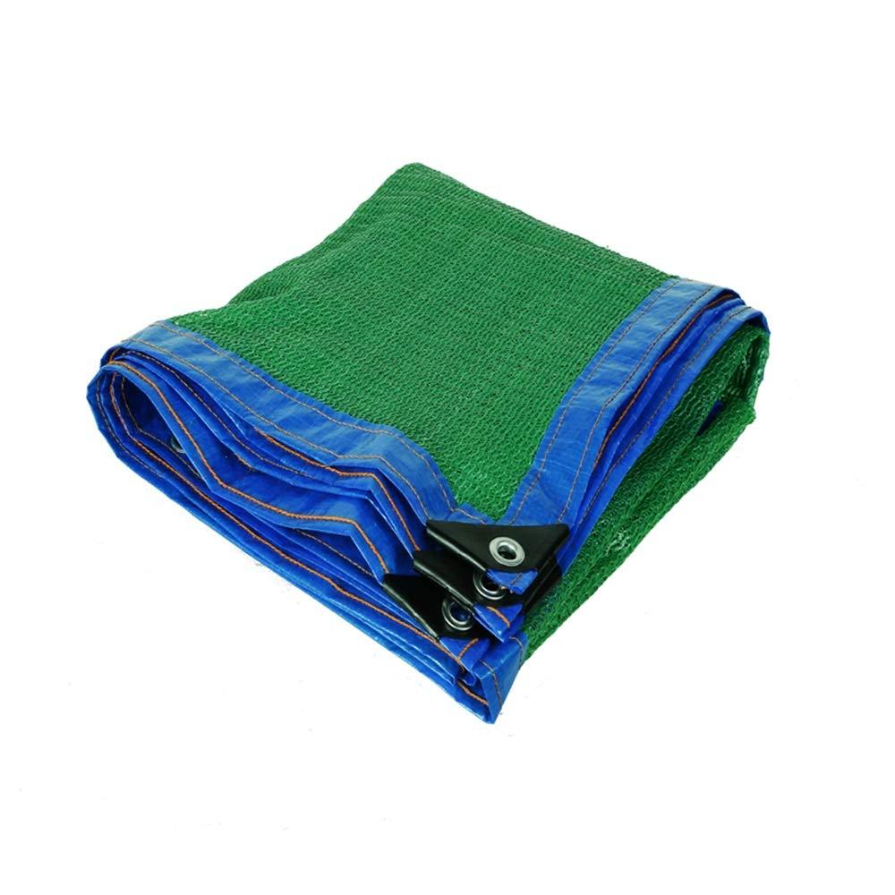 FEIFEI 植物カバー温室、納屋、犬小屋、プール、パーゴラまたはカーポートのためのグロメットが付いている90%日焼け止めシェード布 (色 : 緑, サイズ さいず : 4×8m) 4×8m 緑 B07Q6J172V