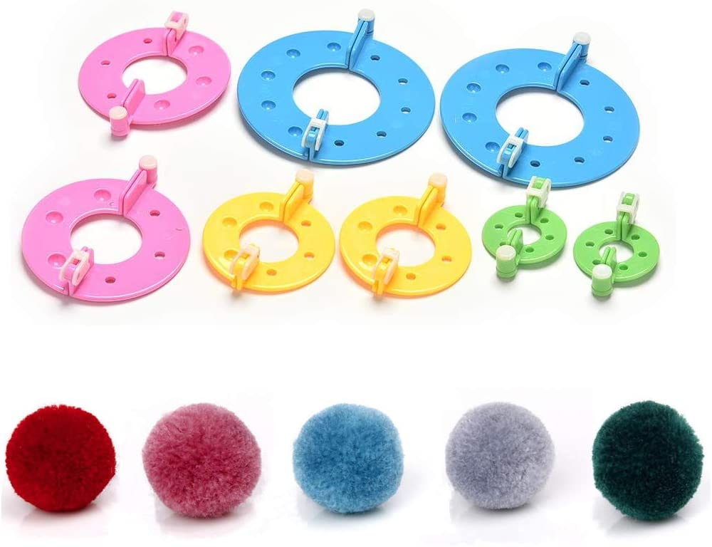 Yarn Needle Craft Hand Kits Knitting Wool Pompom Maker Weaver Tool Fluff Ball