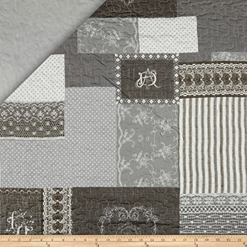 Stof France Infants 0560988 Arkansas Gris Fabric by The Yard