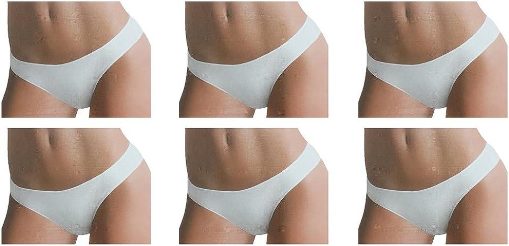 Laura Biagiotti 6 Slip Donna Cucitura Invisibile Cotone Elasticizzato Art 92018
