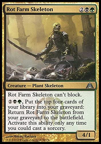 Magic The Gathering - Rot Farm Skeleton (98) - DragonS Maze - Foil by: Amazon.es: Juguetes y juegos