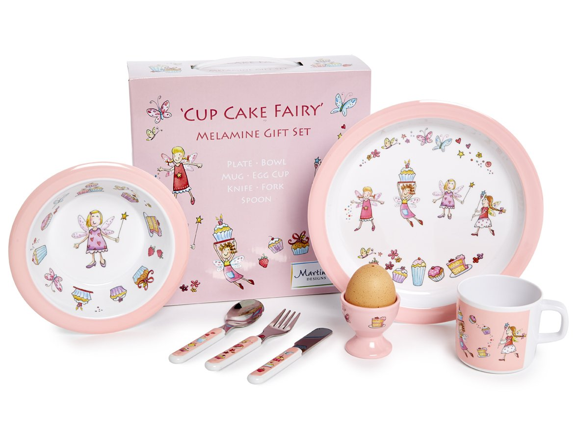 Martin Gulliver Designs Cup Cake Fairy 7 Piece Melamine Gift Set CUP01