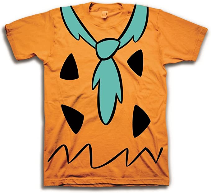Los Picapiedra Fred disfraz naranja – Camiseta de manga corta para ...