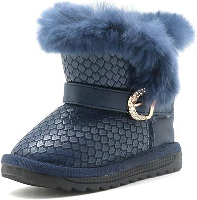 Stivali Invernali da Bambina in Pelle Moda da Bambina con