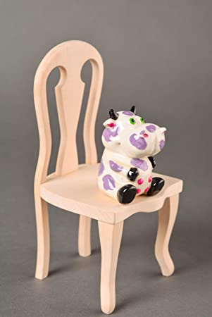 Figurine en plâtre fait main designer cadeau idée déco de table vache figurine