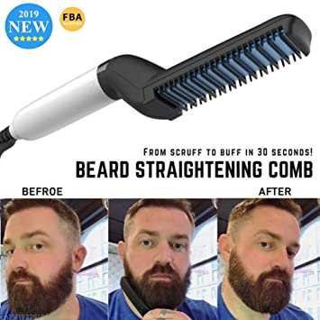 Beard Straightening Comb Multi-Function Professional Hairstyles Hair  Comb,2019 Quick Styling Comb...