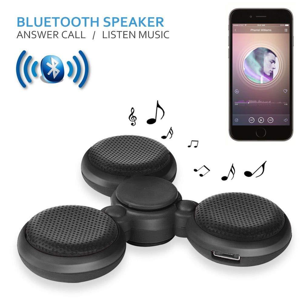 1x LED Bluetooth Tri Fidget Spin Music Speaker Desk Toy Gyro EDC-Black by Elizabeth Peacock 1991