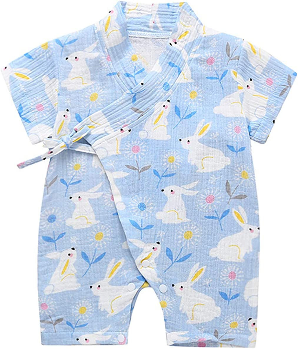 12-24 Months, Rabbit PAUBOLI Kimono Robe Newborn Cotton Yarn Robe Baby Romper Infant Japanese Pajamas