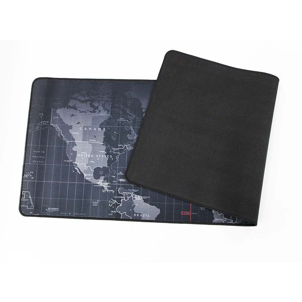 Extended Gaming Mouse Pad,Large Size 31.5*11.8 inches World Map Edge