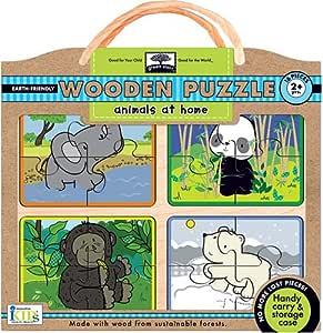 Amazon.com: Innovative Kids Green Start Wooden Puzzles ...