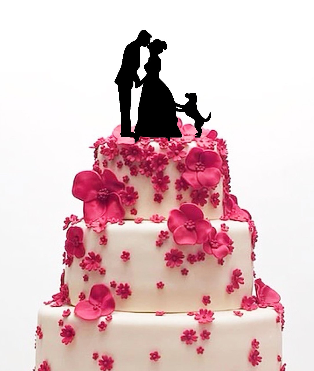 Amazon.com: Ecape Acrylic Cake Topper of Engagement and Wedding with ...