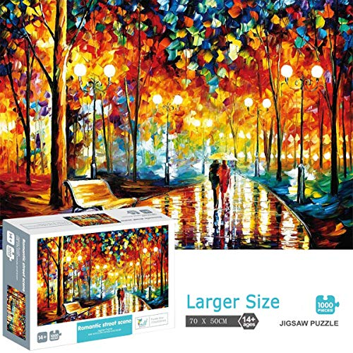 1000 Piece Puzzles Jigsaw Puzzle for Adults or Kids - Puzzles Toy 27.6 in x 19.7 in (Walking in The Rain)