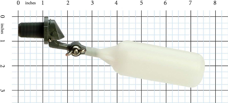 1//4 NPT Male 1//4 NPT Male Standard Mount 1.5 gpm at 60 psi Adjustable Arm Kerick Valve MA2S2 PVC Mini Float Valve
