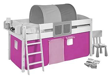 Vorhang Set Etagenbett : Vorhang rosa für hochbett spielbett und etagenbett amazon