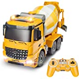 DOUBLE E Benz Licensed Remote Control Cement Mixer Truck Toy 8 Channel Electric Stirring Dumping RC Construction…