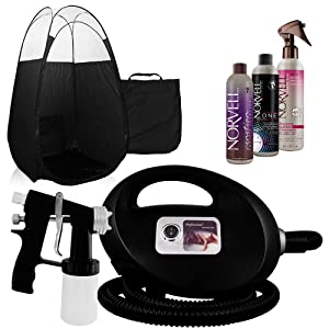 Black Fascination FX Spray Tanning Machine and Kit width=