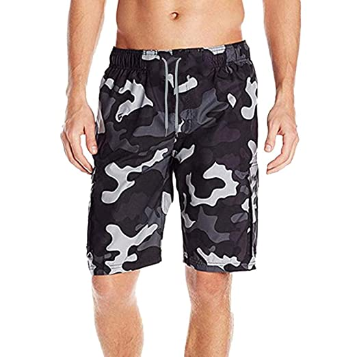8f73817422e9 Handsome Camouflage Men s Swim Trunks Water Sport Quick Dry Drawsting  Pocket Beach Swimming Shorts (Medium
