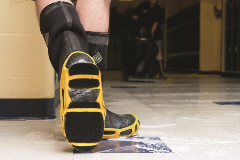 STABILicers StripGrips Non-Slip, Flexible, Lightweight, Traction Solution for Stripping Floors, Attaches Easily over Shoes For Anti-Slip Safety, Medium (6.5-8.5 Men / 8.5-10.5 Women), Yellow/Black