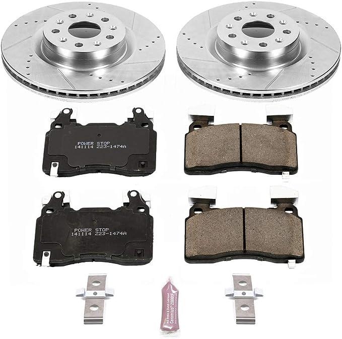 Brake Kits Motors Power Stop K7045 Rear Z23 Evolution Kit with ...