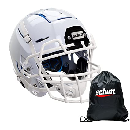 ab9b680b920 Amazon.com   Schutt Youth F7 Football Helmet w Carrying Bag (White ...