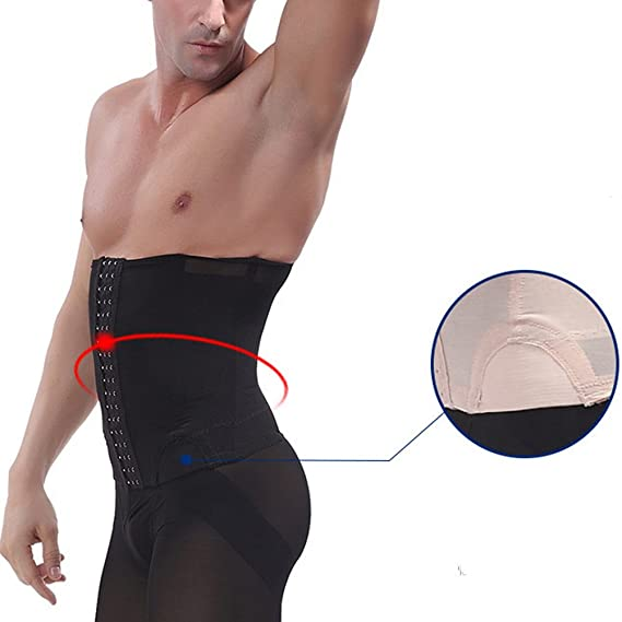 07c1dff716c Zhhlaixing Mens Slimming Waist Shaper Compression Cincher Beer Belly Waist  Belt Body Shaper Breathable Belt Abdomen Shaper  Amazon.co.uk  Clothing