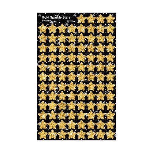 Trend Enterprises Sparkle Stars Stickers  400 Per Package  Gold  T 46403