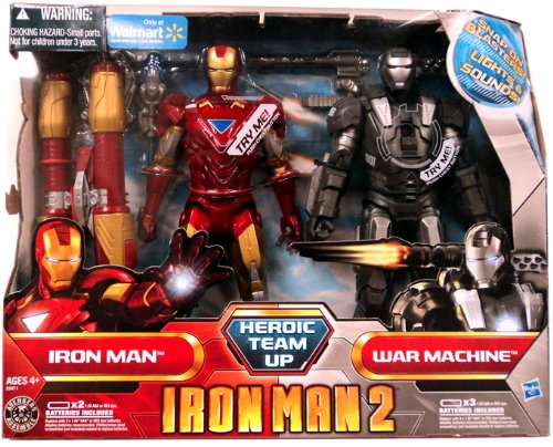 Iron Man 2 Exclusive Heroic Team Up Iron Man and War Machine Action Figure Set