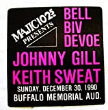 1990 12/30 Bel Biv Devoe Johnny Gill Keith Sweat Backstage Radio Promo Pass