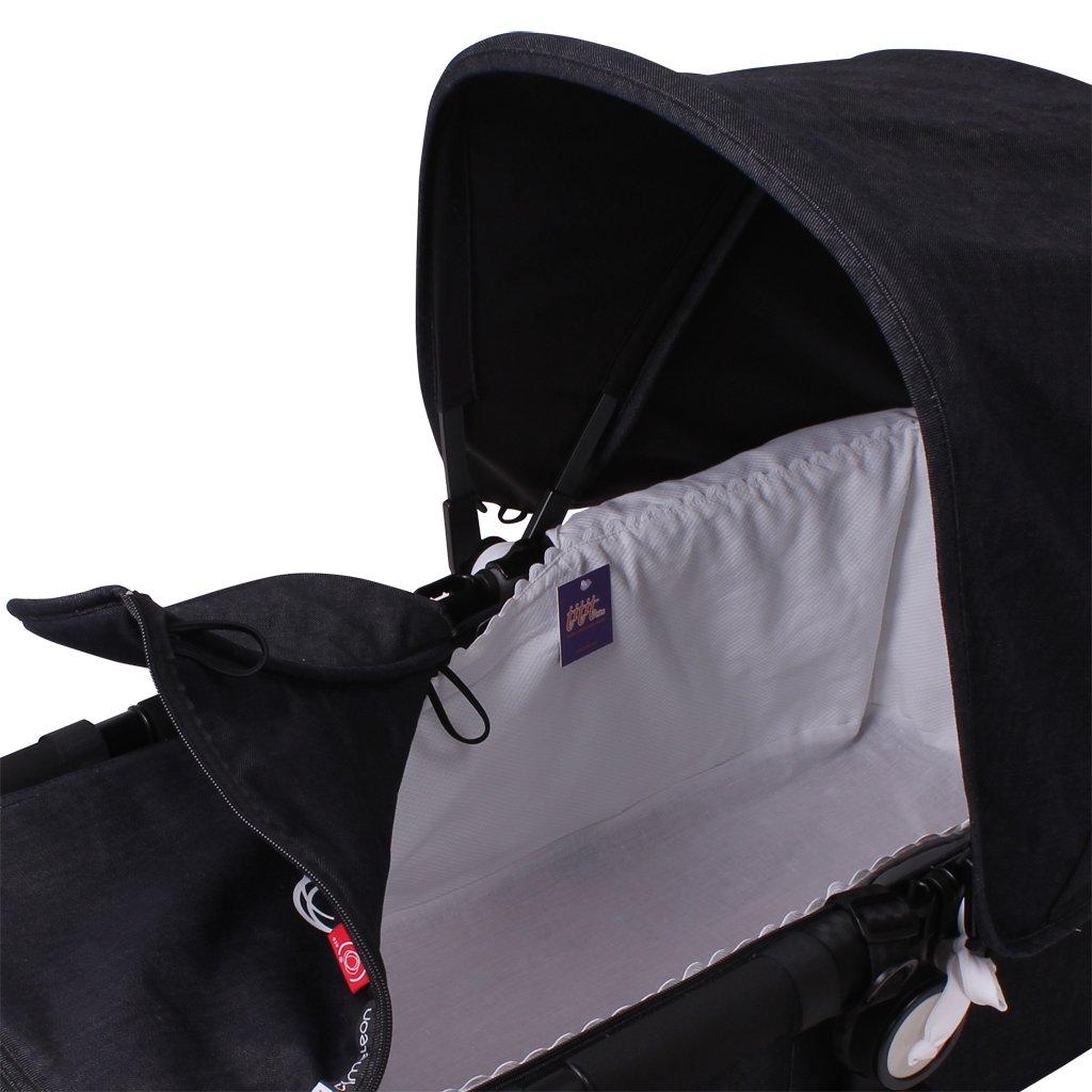 Funda Capazo Velcro Bugaboo Buffalo PIQUE BLANCO Acolchado Transpirable- 100/% Algod/ón Tititnins/®