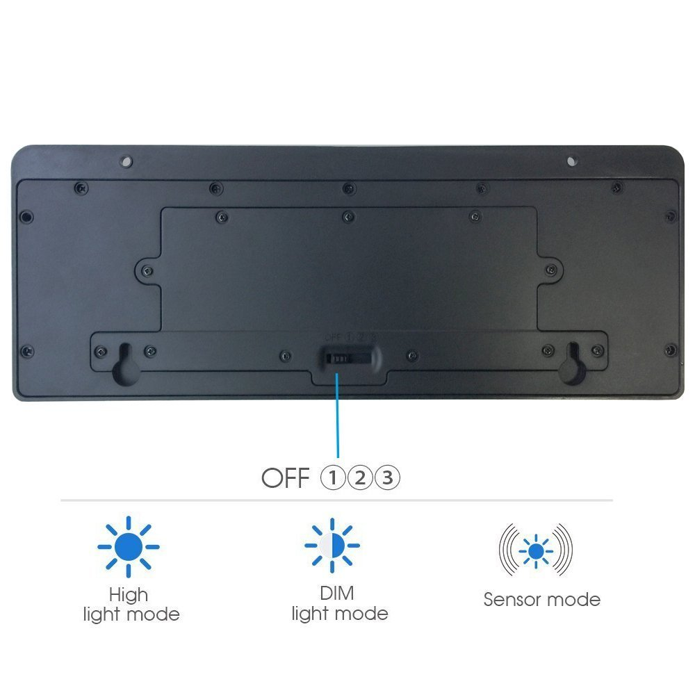 Super Bright 44 Big LED Motion Sensor Solar Powered Wireless Security Wall Outdoor Garden Ponds Accent Lighting Pond Decor Lamp Finials Lights Three Smart Modes Weatherproof Easy Install Green Tech by broSolar (Image #7)