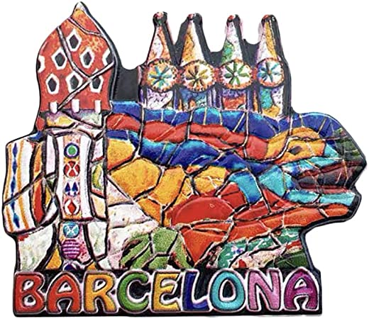 3D Gaudi Lizard Barcelona España Refrigerador Imán de Nevera Recuerdos Turísticos Pegatinas Magnéticas Hechas A Mano Inicio Cocina Decoración Regalo de Viaje: Amazon.es: Hogar