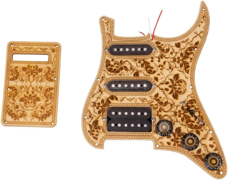 Gaocunh SSH - Juego de golpeadores de madera de arce para guitarra eléctrica Fender ST/Strat