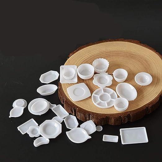 33 piece Miniature Dolls House 1:12 Scale Kitchen Tableware Porcelain kunststoffpla