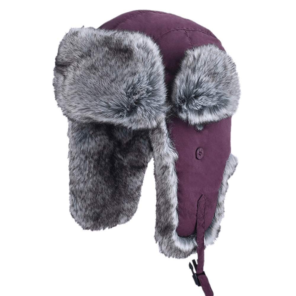 zxcvb Cotton Cap Male Winter Plus Cotton Thick Warm Lei Feng Hat Imitation Fur Northeast Hat Casual Wild Wind Resistant Cold Cap